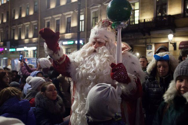 Дед Мороз Дворцовая площадь