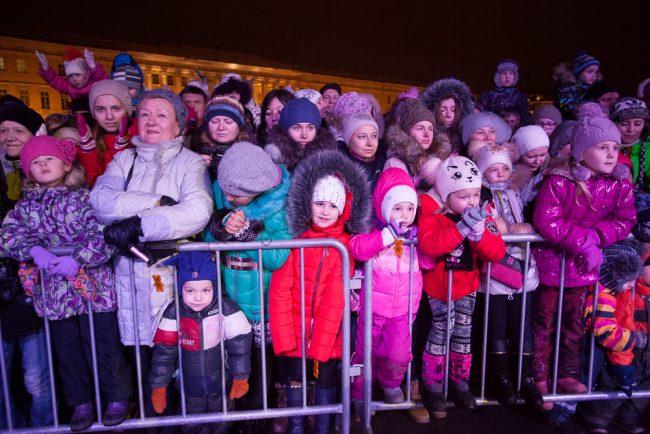встреча Деда Мороза Дворцовая площадь дети