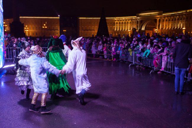 встреча Деда Мороза Дворцовая площадь