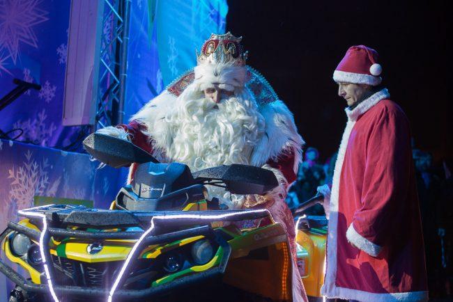 Дед Мороз Дворцовая площадь квадроцикл