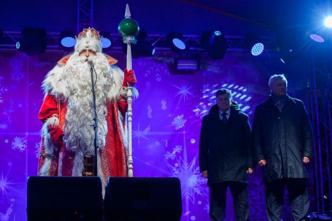Дед Мороз Дворцовая площадь Георгий Полтавченко Вячеслав Макаров