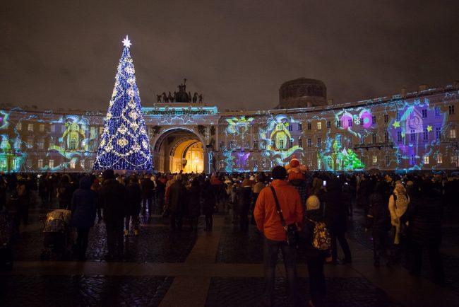 Дворцовая площадь ёлка новый год