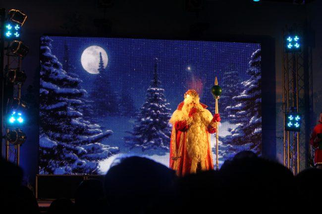 Рождественская ярмарка Пионерская площадь Дед Мороз