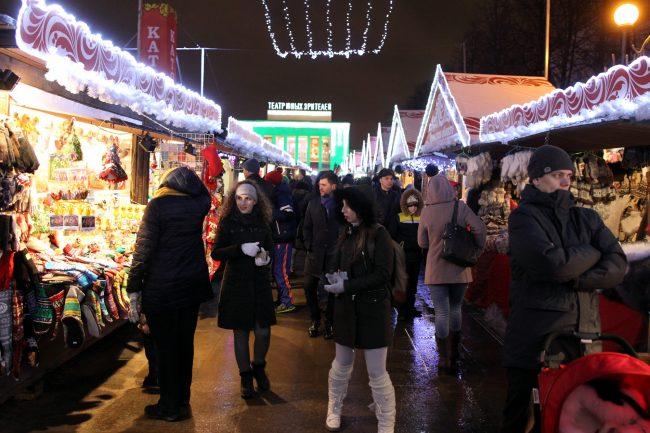 Рождественская ярмарка Пионерская площадь торговля