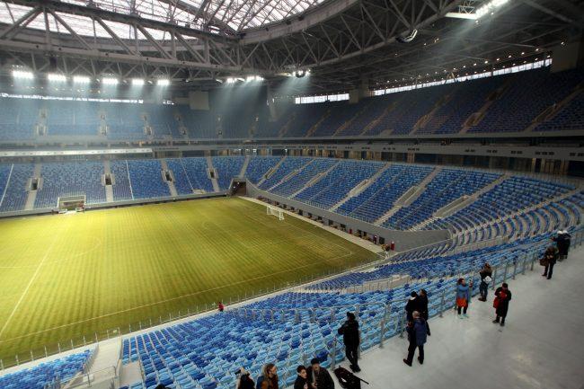 стадион на крестовском острове зенит-арена поле трибуны
