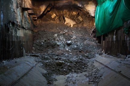 метрострой строительство станции метро новокрестовская проходческий щит надежда