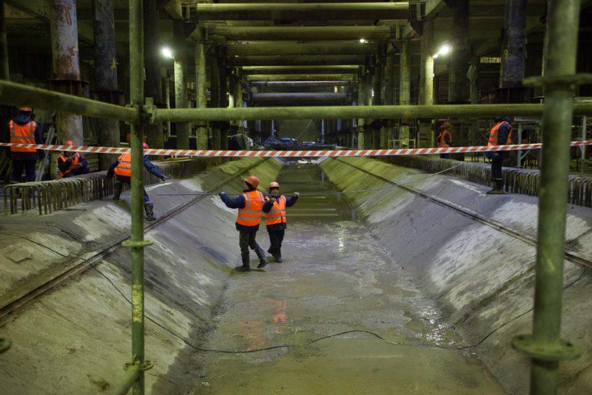 метрострой строительство станции метро новокрестовская