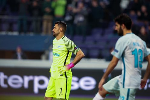 «Зенит» проиграл «Андерлехту» в1/16 финала футбольной Лиги Европы