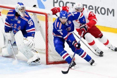 «Спартак» одержал победу над СКА вматче КХЛ