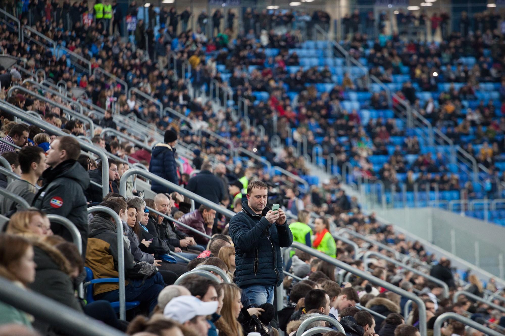 открытие стадиона зенит-арена трибуны