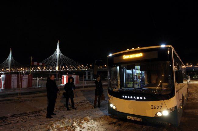 автобусы шаттлы стадион на крестовском зсд западный скоростной диаметр