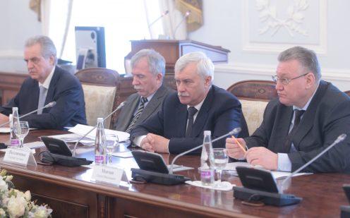 Полтавченко иМясникович обсудили строительство симметричных кварталов вПетербурге иМинске