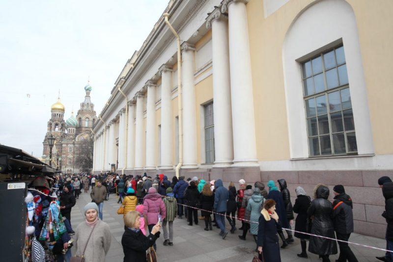 очереди в музеи Петербурга
