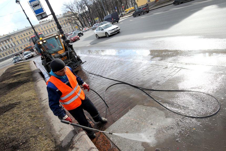 уборка улиц мытьё благоустройство