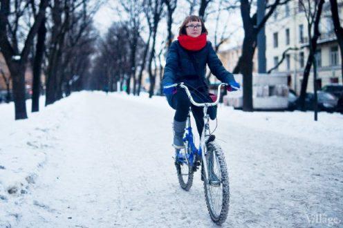 2013 год, The Village брали интервью о поездках на велосипеде зимой — тогда это было совсем в диковинку.