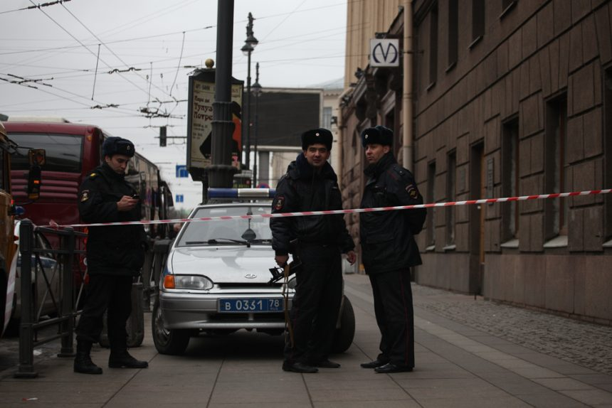 полиция дпс оцепление теракты взрывы в метро петербурга