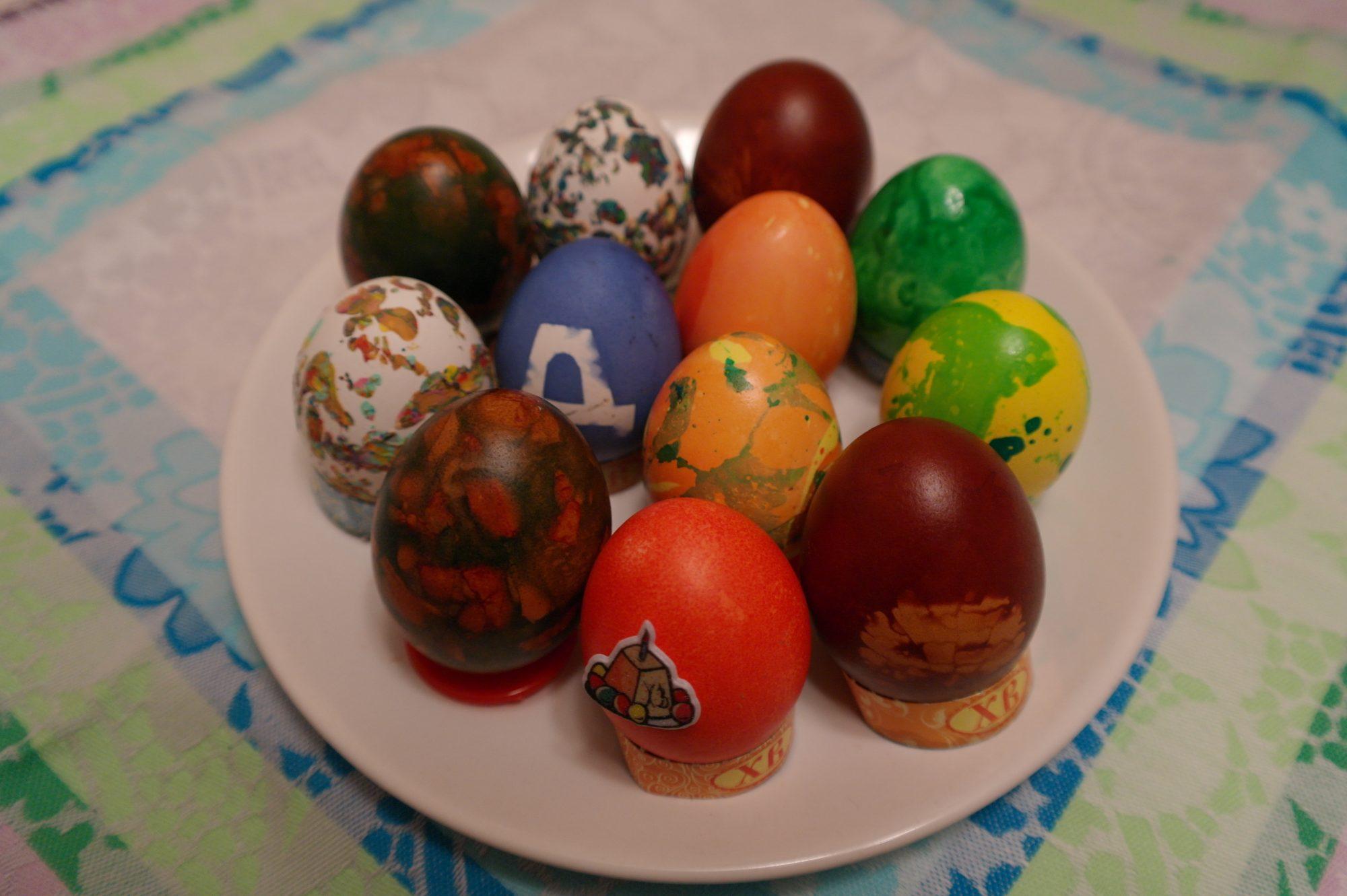крашеные яйца пасха