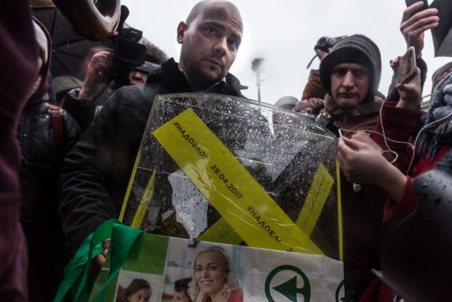 Организатора акции «Надоел» вПетербурге оштрафовали практически на20 тыс. руб.