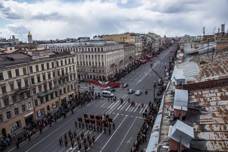 невский проспект день победы 2017