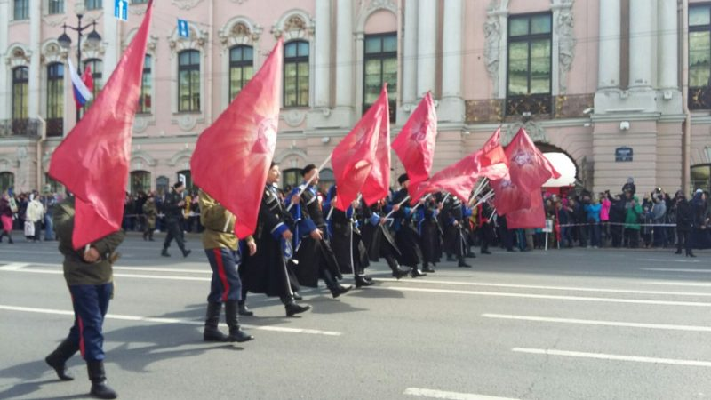 Казаки, бессмертный полк, день победы 2017