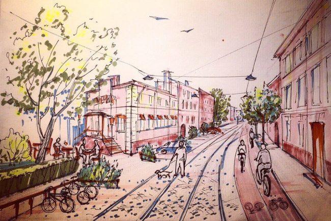 рисунок дегтярный переулок