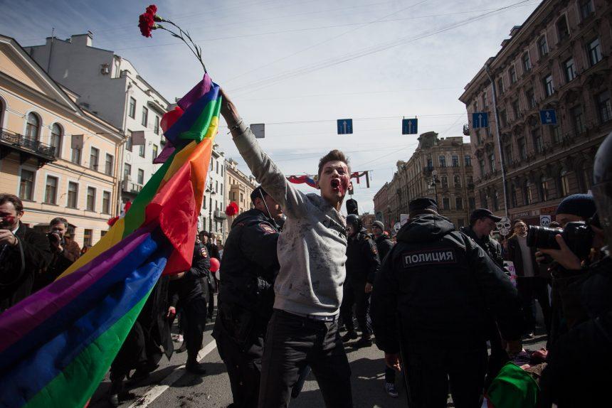 первомайская демонстрация первое мая задержание оппозиция лгбт