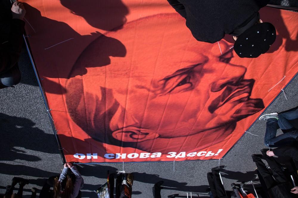 первомайская демонстрация первое мая ленин