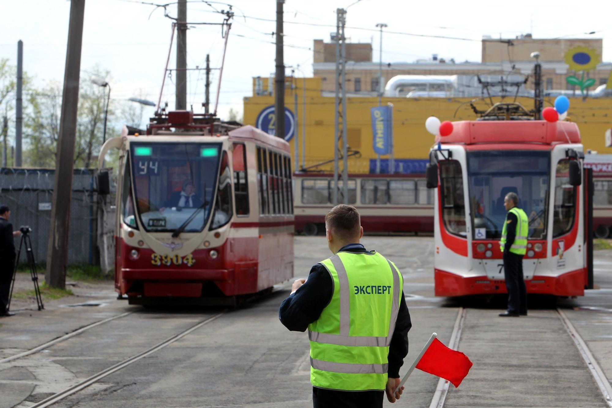конкурс водителей трамвая трамвайный парк № 7 Горэлектротранс