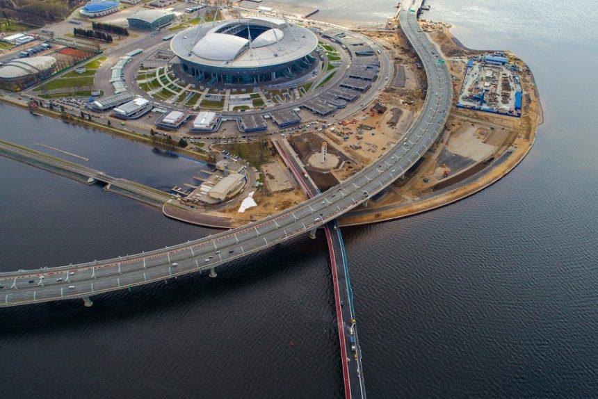 крестовский остров зенит арена яхтенный мост зсд цветной асфальт