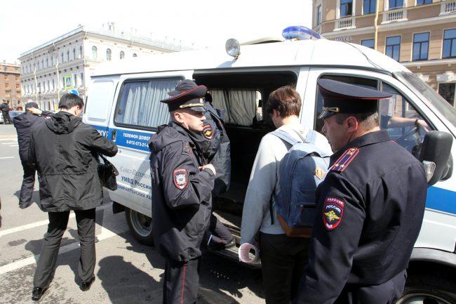пикет у законодательного собрания закс полиция задержание