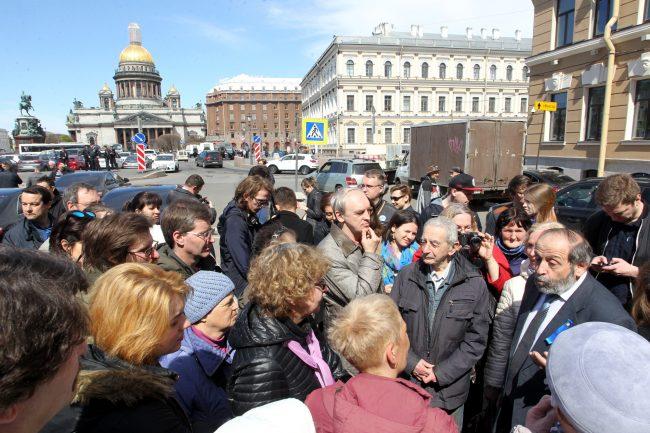 встреча с депутатами Борис Вишневский Исаакиевская площадь