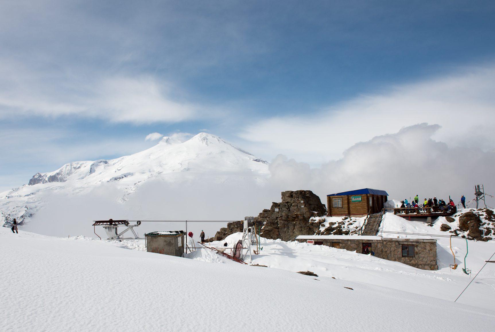Чегет вид на Эльбрус и смотровую площадку