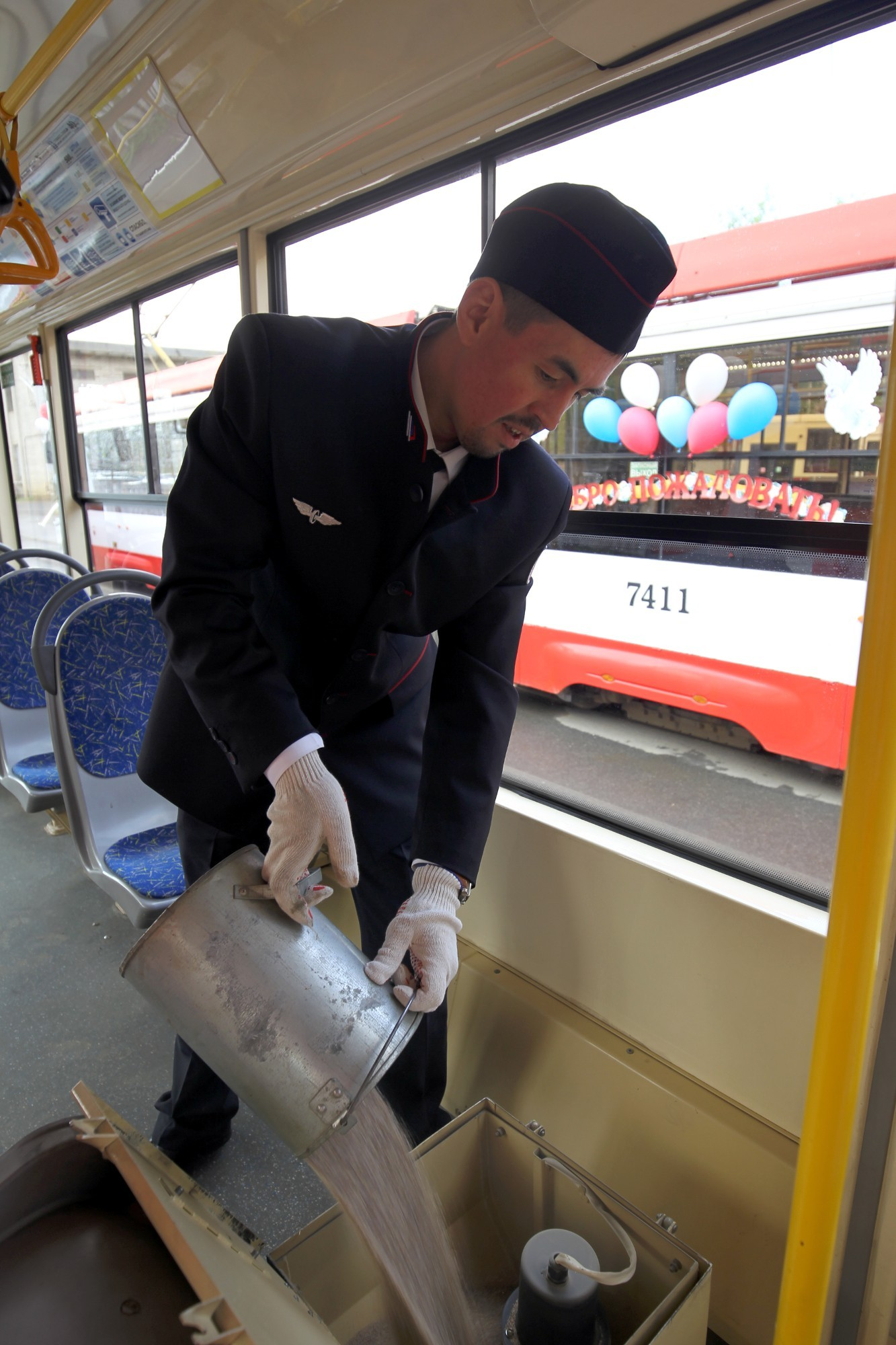 водитель трамвая в Петербурге