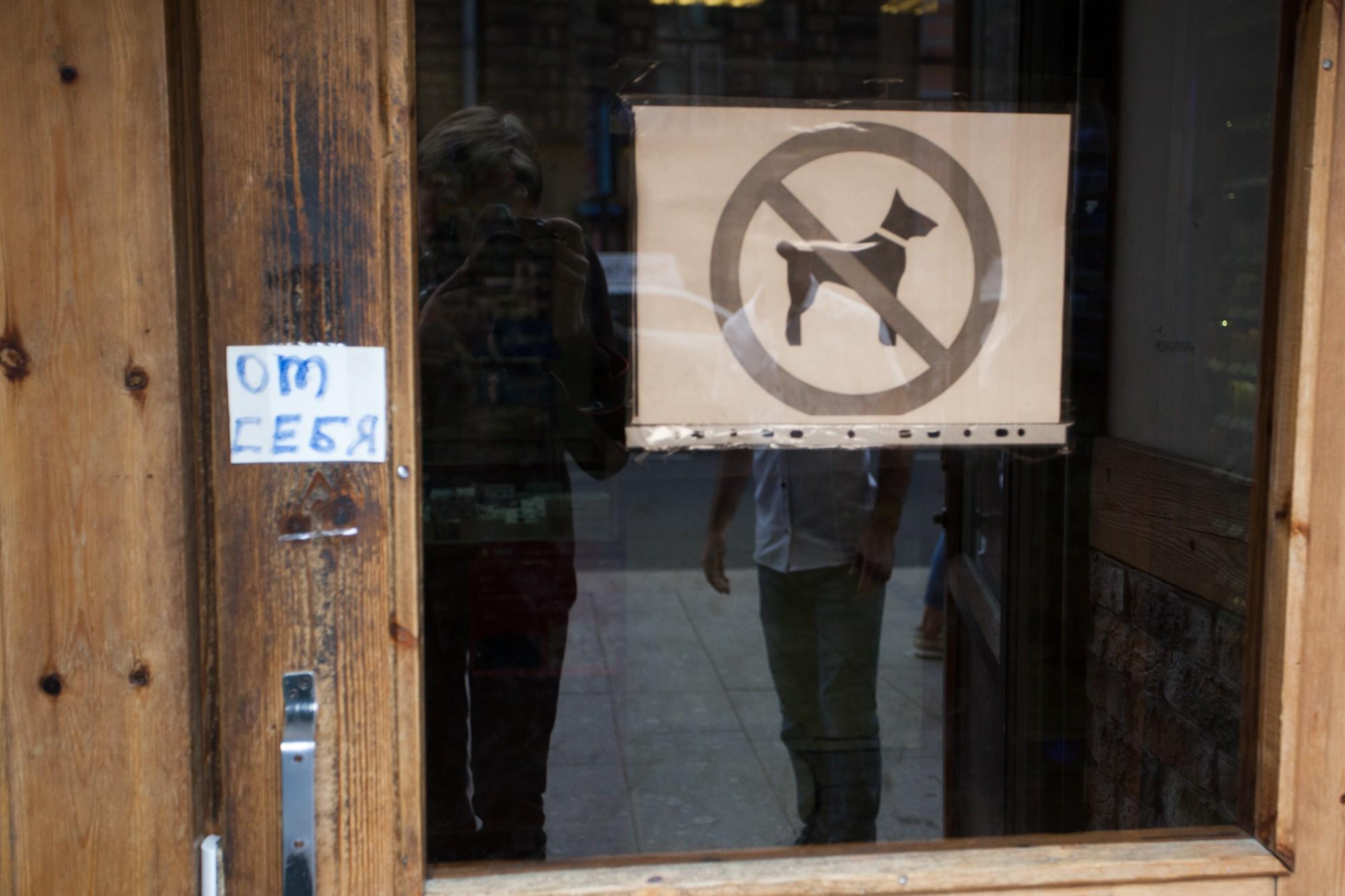 с собаками нельзя запрет табличка