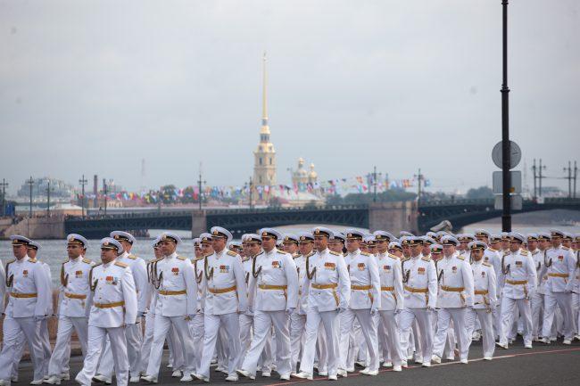 парад день военно-морского флота вмф моряки военные корабли петропавловская крепость