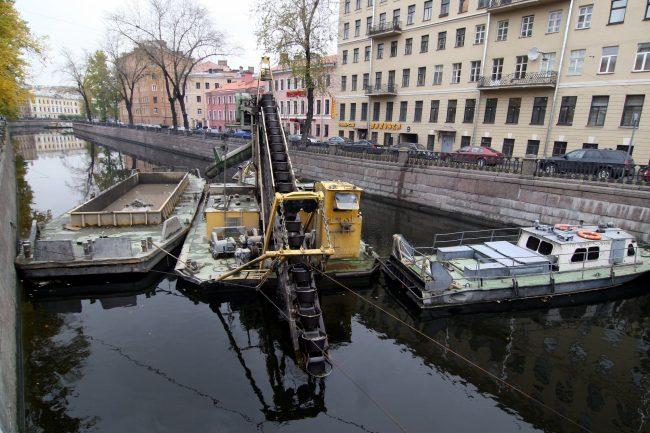 Ленводхоз дноуглубительные работы канал Грибоедова очистка