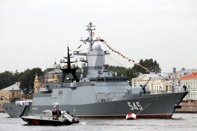 репетиция парада день ВМФ флот военный корабль корвет Стойкий