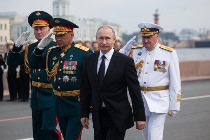 124-30.07.2017 - Шойгу и Путин на параде в День ВМФ