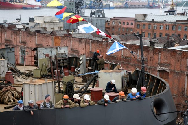 21-28.04.2016 - спуск на воду ледокола Москва