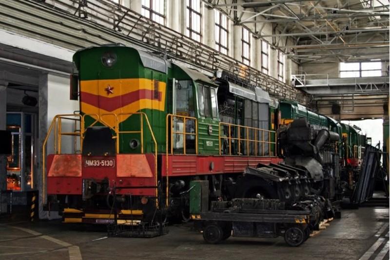 локомотив маневровый тепловоз ЧМЭ3 вагоноремонтное депо железная дорога
