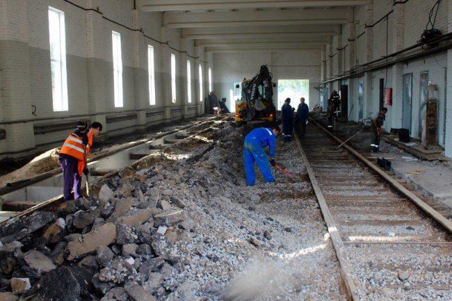 трамвайные пути ремонт красногвардейский район группа лср