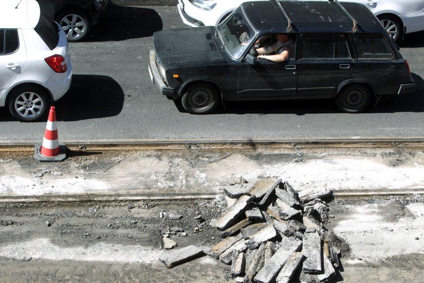 ремонт трамвайных путей дорожные работы