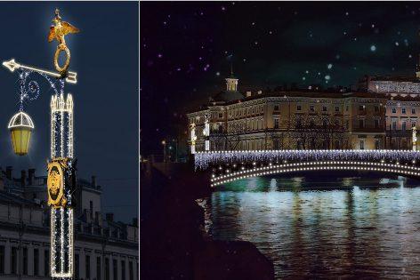 ВПетербурге впервый раз с2005 года обновят новогодние украшения