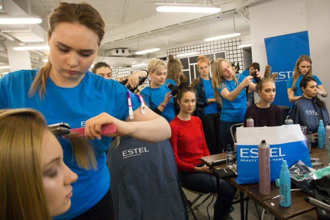 мода модели показ визажисты парикмахеры
