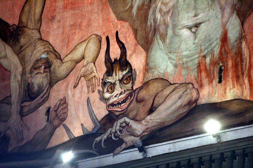 ад фрески сатана