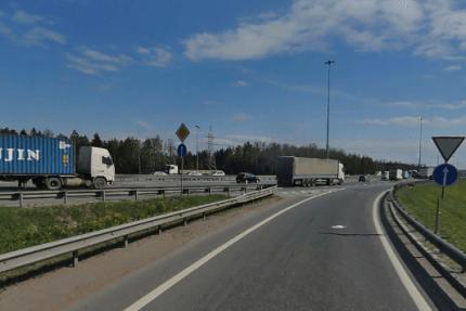 кад развязка с колтушским шоссе кольцевая