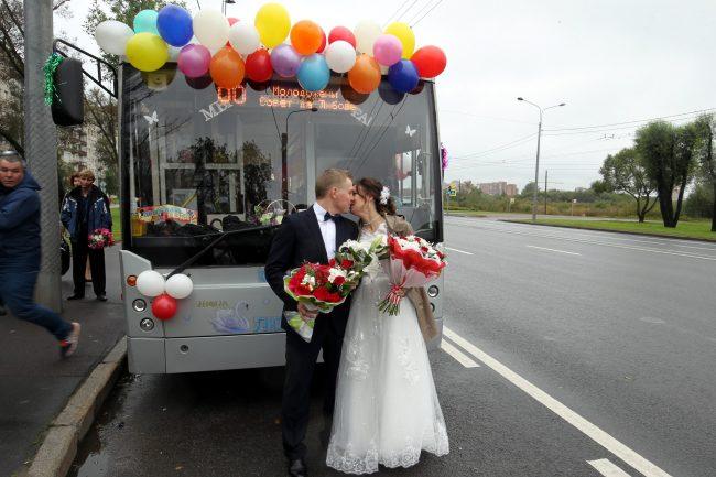 горэлектротранс троллейбус свадьба Ирина Белик Александр Макаров
