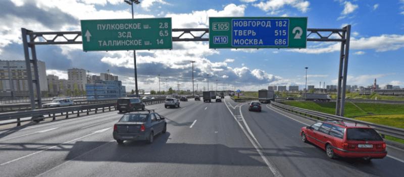 КАД Кольцевая автодорога пересечение с Московским шоссе