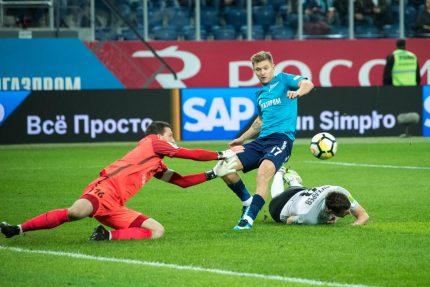футбол Чемпионат России 2017/18, «Зенит» — «Тосно»