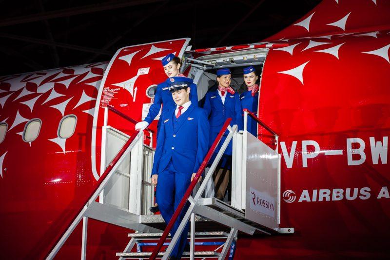 авиакомпания Россия форма стюардессы самолёт авиация